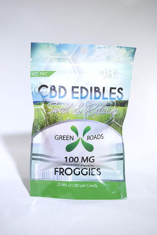 Green Roads 100mg CBD Gummy Frogs
