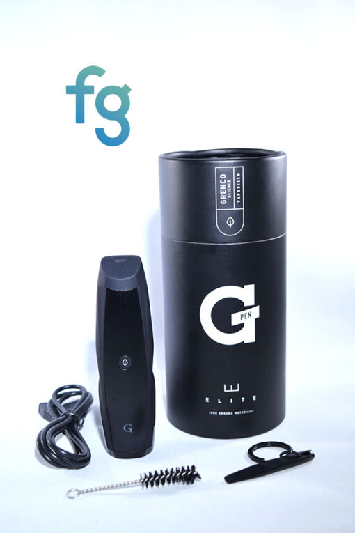 Grenco Science G Pen Elite Portable Vaporizer for Ground Material Dry Herb available at Fourward Glass Gallery & Smoke Shop in St. Petersburg, Tampa Bay, Florida