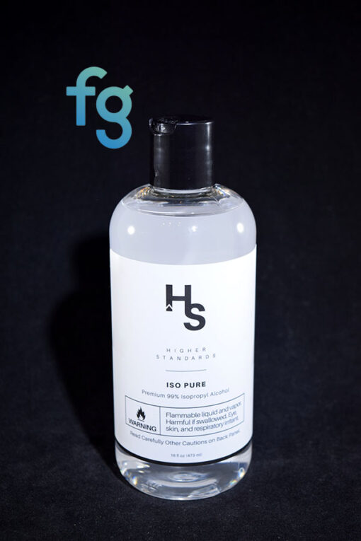 Higher Standards - Iso Pure 99% Isopropyl Alcohol for cleaning heady glass waterpipes and vapor rigs