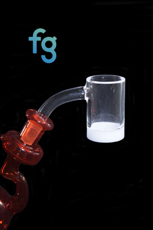 available at Fourward Glass Gallery & Smokeshop in St. Petersburg, FL Best Price Highly Educated Gavel V3 Quartz Opaque Bottom Banger 10mm 55 Degree Male Joint for custom heady glass rigs