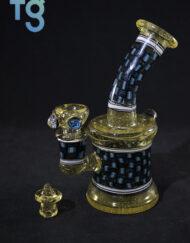 Jeff Green Glass Serum Chip Stack Banger Hanger Minitube Custom Heady Glass Waterpipe