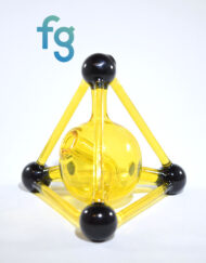 Kid Glass - Terps (CFL Reactive) Mini Tetrahedron Custom Heady Glass Waterpipe Vapor Rig