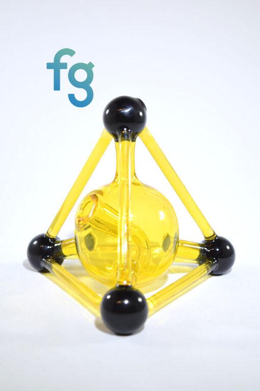 Kid Glass - Terps (CFL Reactive) Mini Tetrahedron Custom Heady Glass Waterpipe Vapor Rig