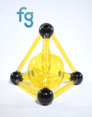 available at Fourward Glass Gallery & Smokeshop in St. Petersburg, FLavailable at Fourward Glass Gallery & Smokeshop in St. Petersburg, FL Kid Glass - Terps (CFL Reactive) Mini Tetrahedron Custom Heady Glass Waterpipe Vapor Rig
