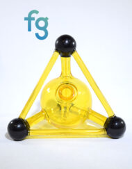 available at Fourward Glass Gallery & Smokeshop in St. Petersburg, FL Kid Glass - Terps (CFL Reactive) Mini Tetrahedron Custom Heady Glass Waterpipe Vapor Rig
