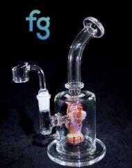 Monster Showerhead Perc Banger Hanger Minitube Custom Vapor Rig Waterpipe by Our Glass Florida