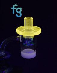 Nova and Blue Dream Custom Hand Blown Heady Glass Flat Top Spinner Carb Cap For Quartz Banger on Dab Rig