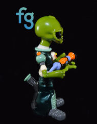 OG Ghost - Custom Heady Glass Alien Commander Rig Custom High End Glass Waterpipe Vapor Rig
