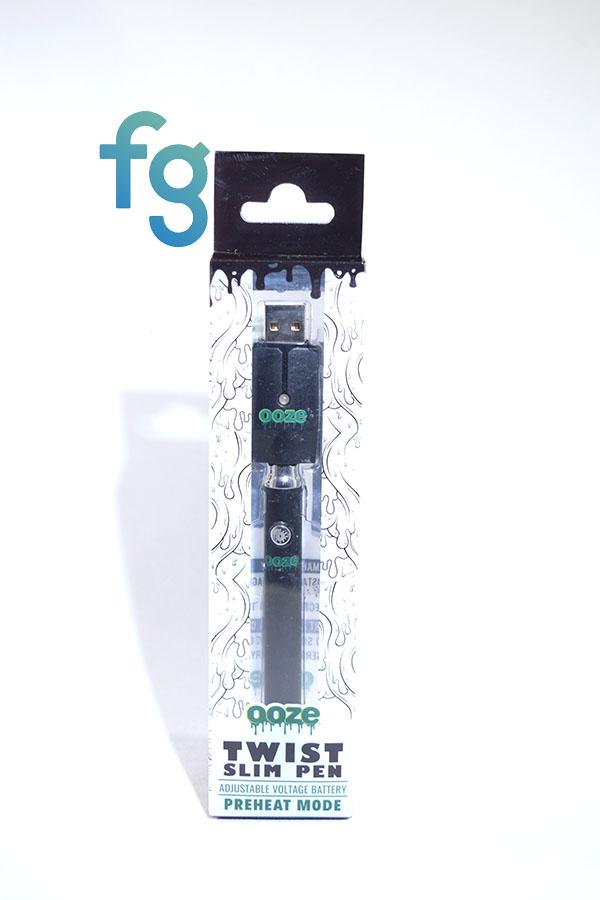 Ooze Black Slim Pen Twist Battery W Usb Smart Charger