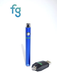 available at Fourward Glass Gallery & Smokeshop in St. Petersburg, FL Ooze - Blue Slim Twist 510 Thread Adjustable Voltage Vaporizer Vape Pen Battery with Smart USB Charger