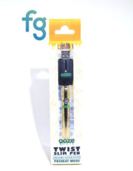 available at Fourward Glass Gallery & Smokeshop in St. Petersburg, FL Ooze - Gold Slim Twist 510 Thread Adjustable Voltage Vaporizer Vape Pen Battery with Smart USB Charger
