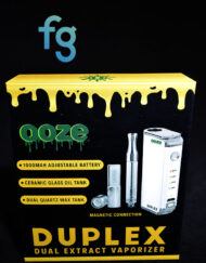 available at Fourward Glass Gallery & Smokeshop in St. Petersburg, FL Ooze - Duplex Adjustable 1000mAh Dual Extract Vaporizer Battery with magnetic connectors for .5 cartridges and 1g cartridges