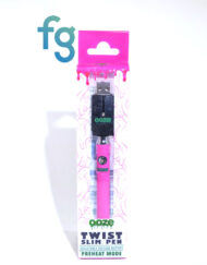 available at Fourward Glass Gallery & Smokeshop in St. Petersburg, FL Ooze - Pink Slim Twist 510 Thread Adjustable Voltage Vaporizer Vape Pen Battery with Smart USB Charger