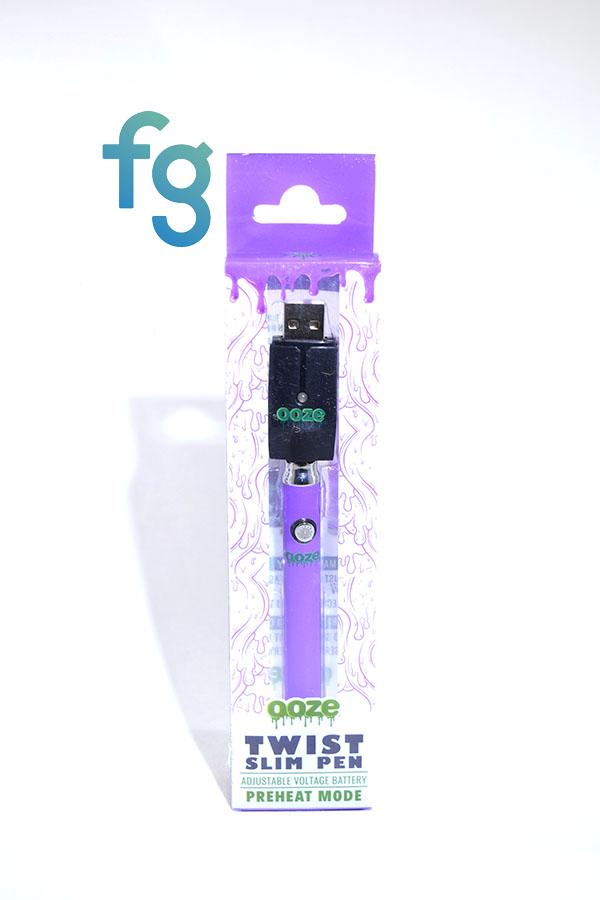 Ooze Purple Slim Pen Twist Battery W Usb Smart Charger