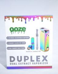 available at Fourward Glass Gallery & Smokeshop in St. Petersburg, FL Ooze Duplex Rainbow 510 Thread Cartridge Alternative Adjustable Drop Down Vape Battery