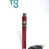 Ooze - Red Slim Twist 510 Thread Adjustable Voltage Vaporizer Vape Pen Battery with Smart USB Charger