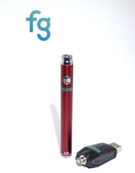 available at Fourward Glass Gallery & Smokeshop in St. Petersburg, FL Ooze - Red Slim Twist 510 Thread Adjustable Voltage Vaporizer Vape Pen Battery with Smart USB Charger