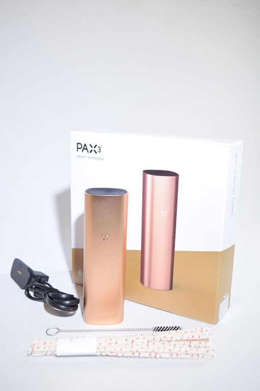 available at Fourward Glass Gallery & Smokeshop in St. Petersburg, FL Pax Vaporizers - Pax 3 Matte Rose Gold loose Leaf Dry Portable High End Vaporizer