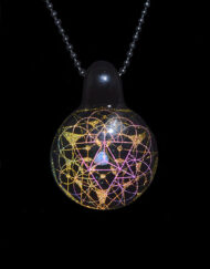 Custom Hand Blown Heady Glass Dichro Sacred Geometry Pendant By Subtl available at Fourward Glass Gallery & Smoke Shop in Downtown, St. Petersburg, Florida