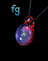 Custom Hand Blown Heady Glass Dichro Sacred Geometry Pendant