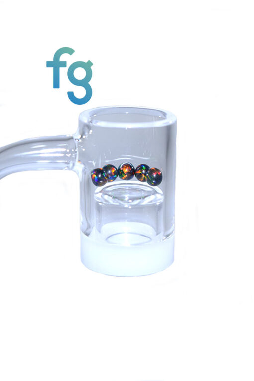 5mm Black Opal Terp Pearl Dab Pearls by Ruby Pearl Co. for Hand Blown Heady Glass Dab Rig Waterpipe for use with Spinner Carb Caps and Quartz Bangers such as Highly Educated Gavel V3, Evan Shore Bangers, all available at Fourward Glass Gallery & Smoke Shop in Tampa Bay, St. petersburg, Florida