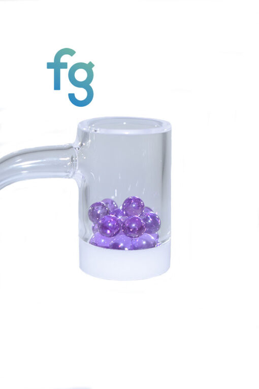 6mm Exotic Purple Sapphire Terp Pearl Dab Pearls by Ruby Pearl Co. for Hand Blown Heady Glass Dab Rig Waterpipe for use with Spinner Carb Caps and Quartz Bangers such as Highly Educated Gavel V3, Evan Shore Bangers, all available at Fourward Glass Gallery & Smoke Shop in Tampa Bay, St. petersburg, Florida