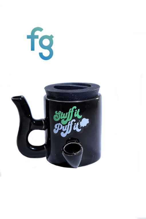 available at Fourward Glass Gallery & Smokeshop in St. Petersburg, FL Stuff It Puff It Ceramic Stash and Dry Pipe Combo
