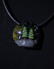 """Trees And Galaxies"" Custom Heady Glass Pendant by GPS"
