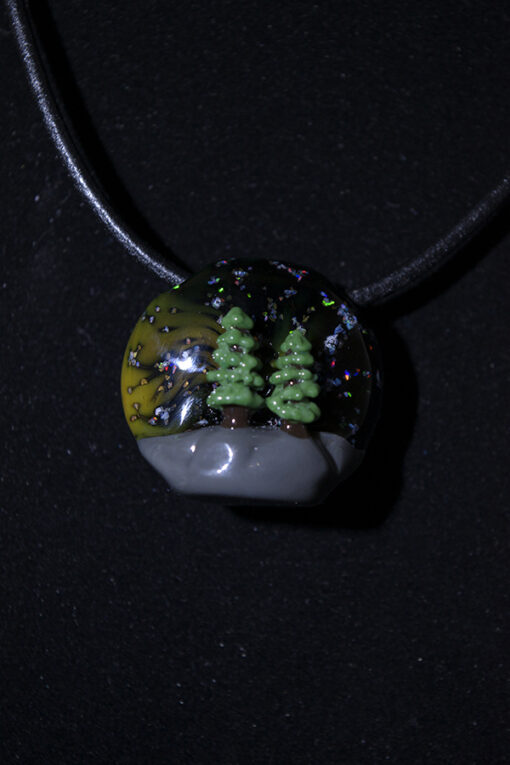 """Trees And Galaxies"" Custom Heady Glass Pendant by GPS"