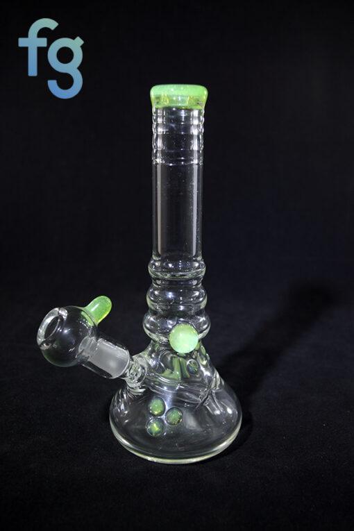 Wil Glass Custom Carved Heady Glass Minitube Waterpipe